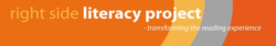 right side literacy project logo