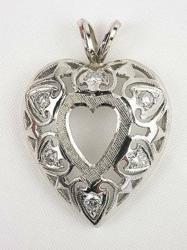 Antique Style Heart Shaped Pendant