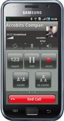Groundwire for Android In-Call Screen