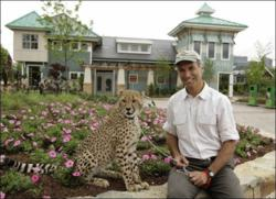 Thane Maynard and cheetah cub