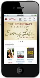Screenshot of LifeWay.com on a mobile device