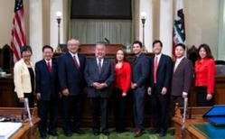 Assembly Member Mary Hayashi and Members of the Asian Pacific Legislative Caucus
