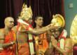His Holiness Paramahamsa Nithyananda being coronated as the 293rd pontiff of Madurai Aadheenam, the world's most ancient living Hindu religious organization.