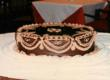 1980s Era Chocolate Groom's Cake by Three Brothers Bakery