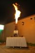 Oil Derrick Cake Shooting Fire Created by Three Brothers Bakery