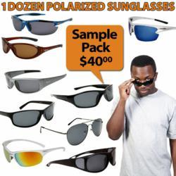 Sampler package of wholesale polarized sunglasses
