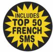 Now Including Top 50 French SMS