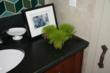 Finish Touches to Powder Room for Bucks County Designer House