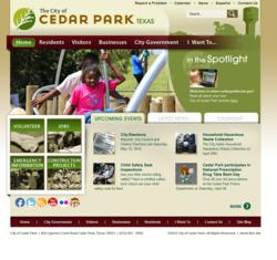 Cedar Park website powered by Vision Internet