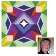 Carol Johnson of North Bay, Ontario, runner-up in AccuQuilt's 2012 barn quilt design contest, is the company's first-ever international winner.