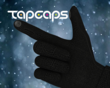 TapCaps capacitive conductive glove use touch screen adaptable compatible winter cold