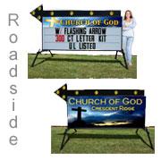 Portable outdoor light box sign
