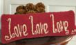The love love love pillow can make a perfect gift for all mothers!