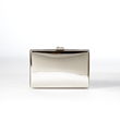 Jill Milan Art Deco Clutch in silver.
