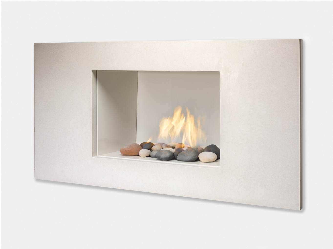 New Looks Fresh Colors In Modern Gas Fireplaces From