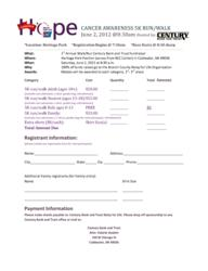 Century Bank and Trust Relay for Life 5K Run/Walk Registration Form