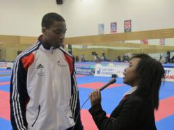 Young Reporter interviewing GB Taekwondo Athlete Lutalo Muhammad