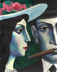 "Viktor Tsyganko Untitled 2009 Acrylic on Board 10"" x 8"" (25.4 cm x 20.32 cm)"
