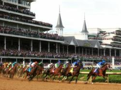Race day at Churchill Downs at the Kentucky Derby