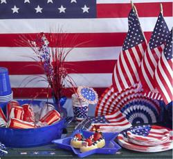 American Flag Table Display