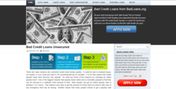 New Bad Credit Loans Matching System