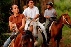Our guided rides traverse the trails of the Chaa Creek Nature Reserve through sub-tropical broadleaf forest past ancient Maya sites.
