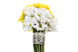 Daisies are mom's favorite in bouquets and in a silver cuff bracelet.
