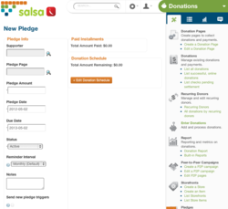 Salsa Donations, Salsa Fundraise, New Salsa Donations Tools