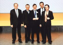 Park Renault receiving award for car dealer of the year