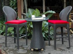 Rattan bar furniture by Anderson Rattan