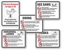 New Playground Rules Signs
