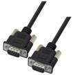 L-com's Premium-grade Black PVC D-Subminiature Cable Assembly (shown with DB9 male connectors)