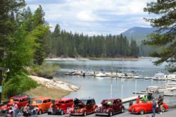 The South Shore Ca & Boat Show combines the scenicy beauty of Bass Lake with awesome view of classic cars.