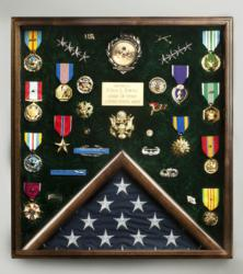 Shadowbox Display Case created to showcase General Colin Powell's military medals