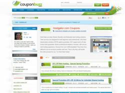 Hostgator Page on CouponBuzz.com