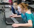Students participating in Teaching Kids Programming course, USA