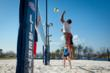 The beach volleyball teams will utilize the new Campus East Beach Volleyball Courts.