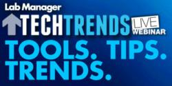 image of Lab Managers Tech Trends live Webinar Logo