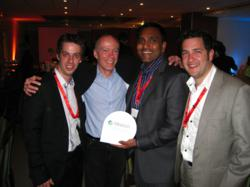 Alfresco CEO, John Powell with Zaizi, Alfresco Best System Integrator Partner of the Year 2012