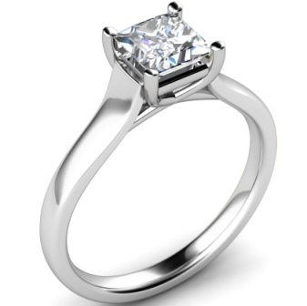 Princess Cut Tiffany Lucida Style Engagement Ring