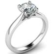 Tulip Style Diamond Engagement Ring in Platinum , Palladium and Gold