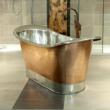 Persian Copper Freestanding Bath with Tin Inner and Plinth by Copper Dragon Co. at Boundary Bathrooms