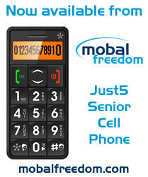 Just5 Senior Cell Phone now available at Mobal Freedom