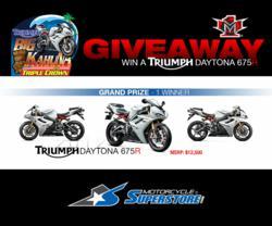 Triumph Daytona 675R Giveaway!