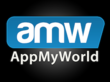 AppMyWorld vertical logo on black background