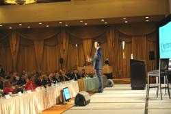 JT Foxx speaking at Mini-Mega Partnering