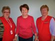 Auxiliary volunteers  Catherine Brunton (left) and Louise Tallman (right) with the first hip replacement patient at KDH, Maureen Mindach of Ottawa.