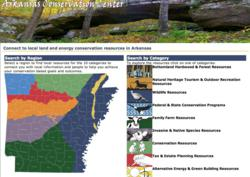 image of Arkansas Conservation Center web portal