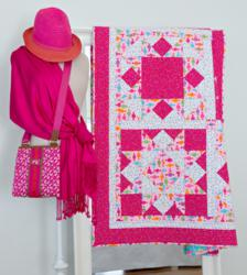 New GO! Hip to Be Square dies were used to create this beautiful GO! Big Block quilt.