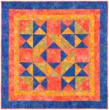 """The stunning GO! Big & GO! Fast Star quilt can be made quickly with GO! dies including 8"""" finished Hip to be Square dies."""